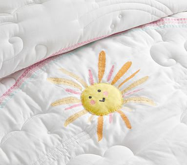 Sunshine Reversible Quilt, Euro Sham, Multi