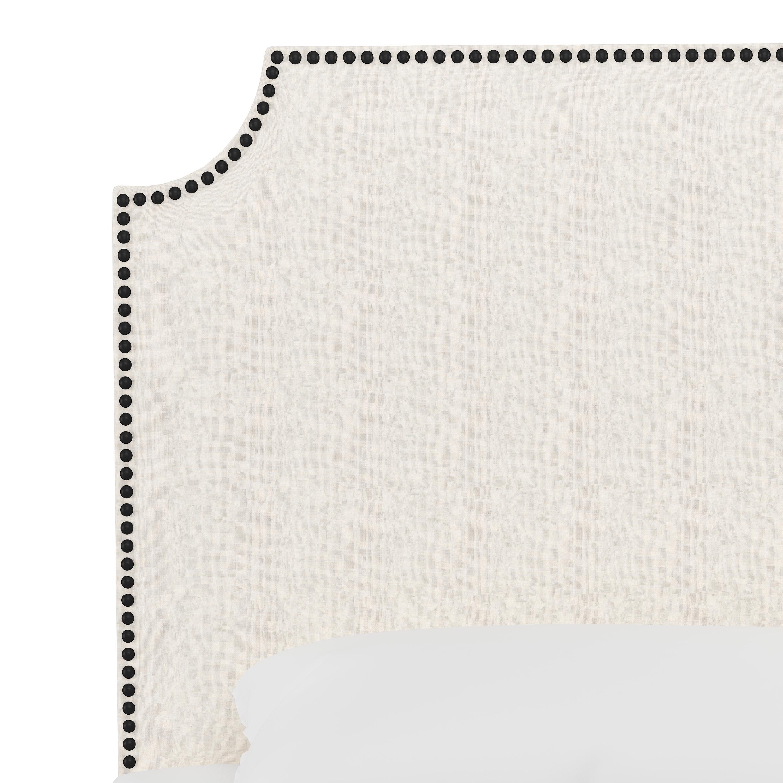 Hudson Bed, Twin, White, Black Nailheads