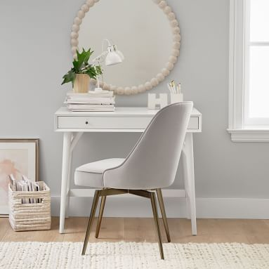 """Hi"" Ceramic Icon Desk Catchall, White"