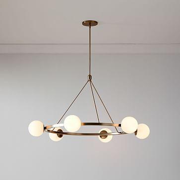 Hayes 6 Lights Chandelier, Light Bronze
