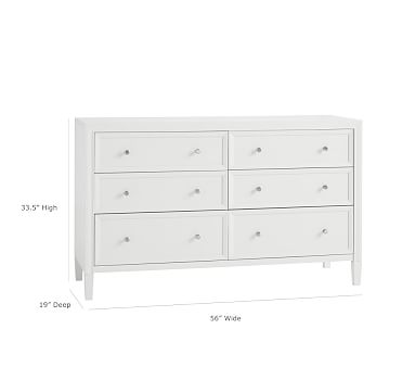 Parker Extra-Wide Dresser, Simply White, In-Home Delivery