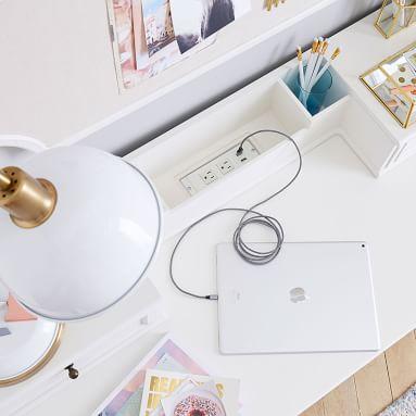 Chelsea Vanity Smart Desk Hutch, Simply White