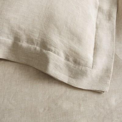Chambers Linen Duvet Cover & Shams, Full/Queen, Flax