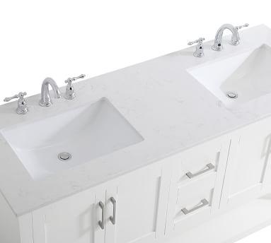 """Blue Belleair Double Sink Vanity, 60"""""""