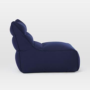 Levi Bean Bag Chair, Poly, Performance Velvet, Otter