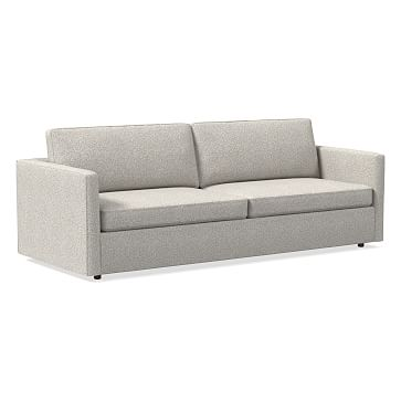 """Harris 96"""" Sofa, Poly, Chunky Basketweave, Metal, Concealed Supports"""