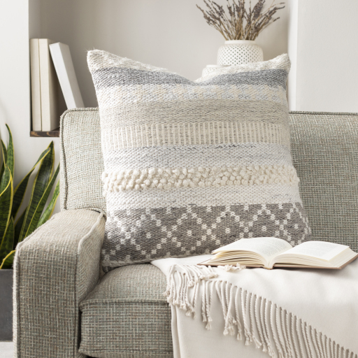 """Lorens - LNS-003 - 20"""" x 20"""" - pillow cover only"""