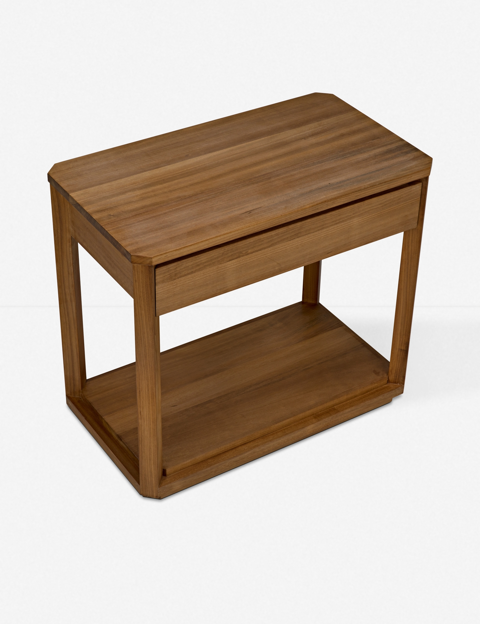 Lailah Side Table, Gold Teak
