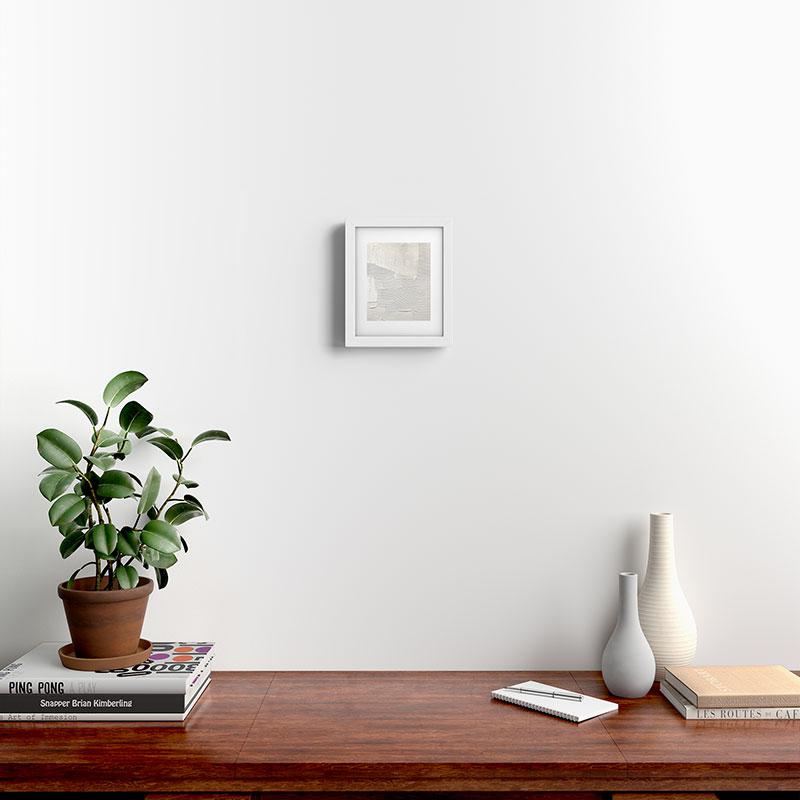 "Relief 1 by Alyssa Hamilton Art, Modern Framed Art Print, White, 8"" x 10"""