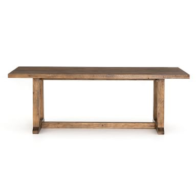"""Jade Reclaimed Wood Dining Table, 87""""L x 39""""W, Pine"""