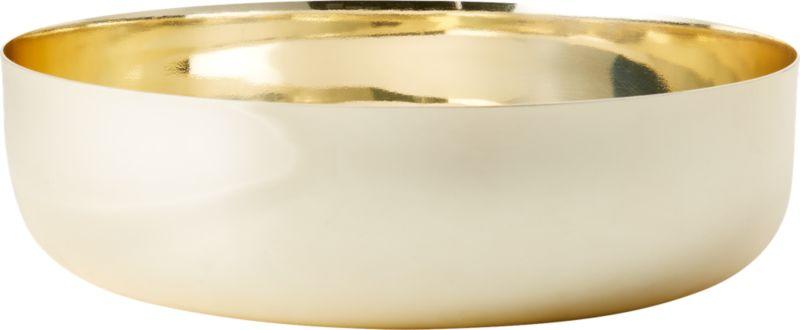 Porter Gold Low Serving Bowl