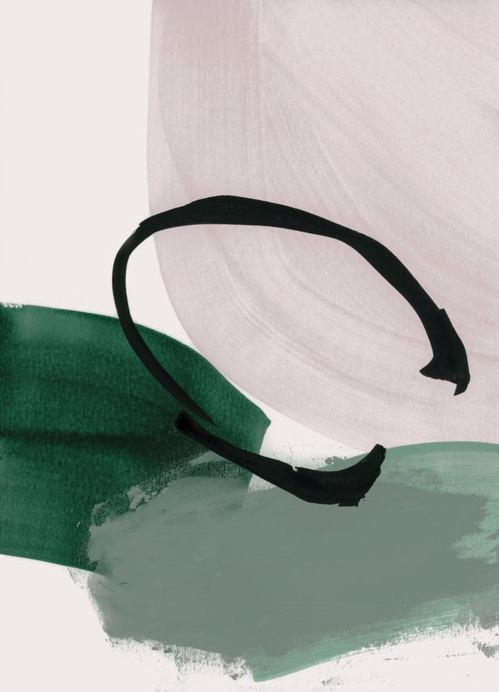 Minimalist Painting 01 Framed Art Print by Iris Lehnhardt - Scoop Black - LARGE (Gallery)-26x38