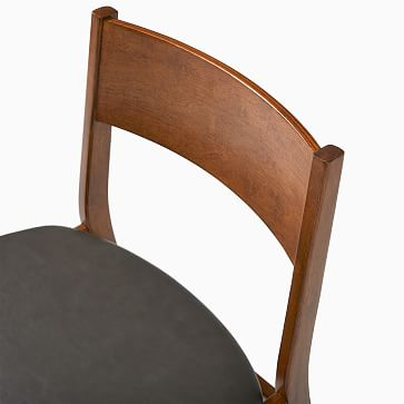 Baltimore Dining Chair, Vegan Leather, Saddle, Walnut, Set of 2