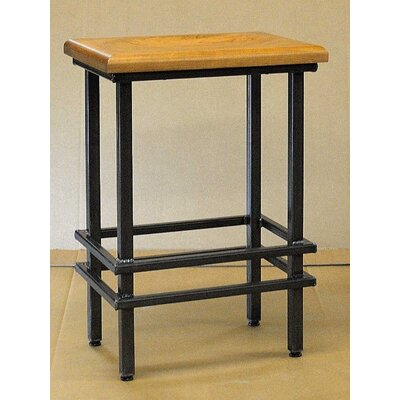 18 X 12 X 30 Natural Cherry And Steel Stool Wayfair