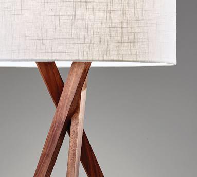 Genoa Wooden Floor Lamp, Walnut