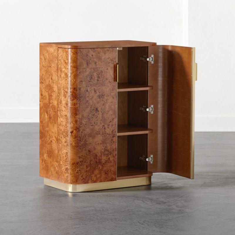 Amati Burl Wood Entryway Cabinet
