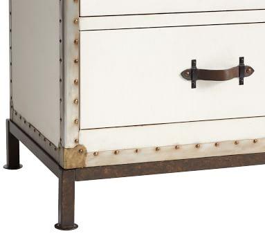 Ludlow Trunk 4-Drawer Tall Dresser, White