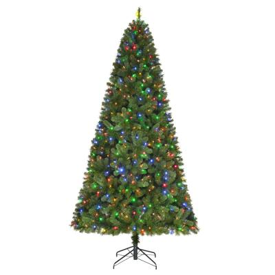 Home Accents Holiday 9 ft Wesley Long Needle Pine LED Pre-Lit Artificial Christmas Tree with 650 Color Changing Lights