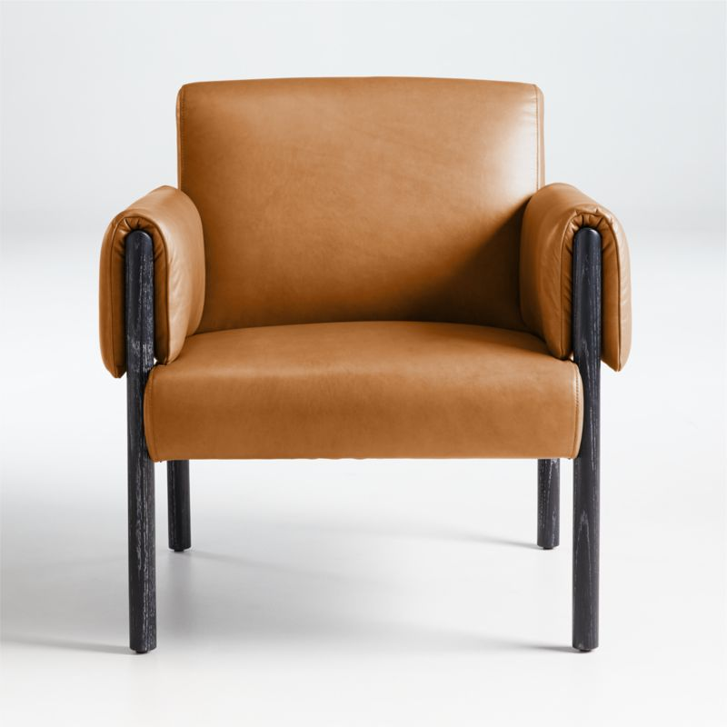 Diderot Wood and Leather Chair