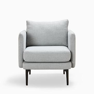 Auburn Chair, Poly, Twill, Black Indigo, Dark Mineral