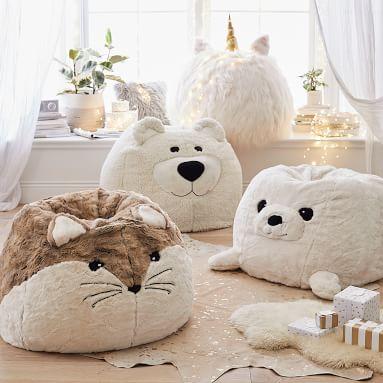 Seal Critter Bean Bag Chair Set, Large