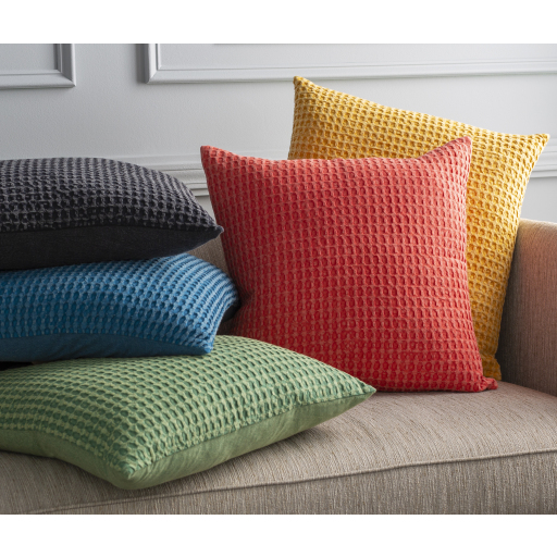 """Waffle - WFL-004 - 22"""" x 22"""" - pillow cover only"""