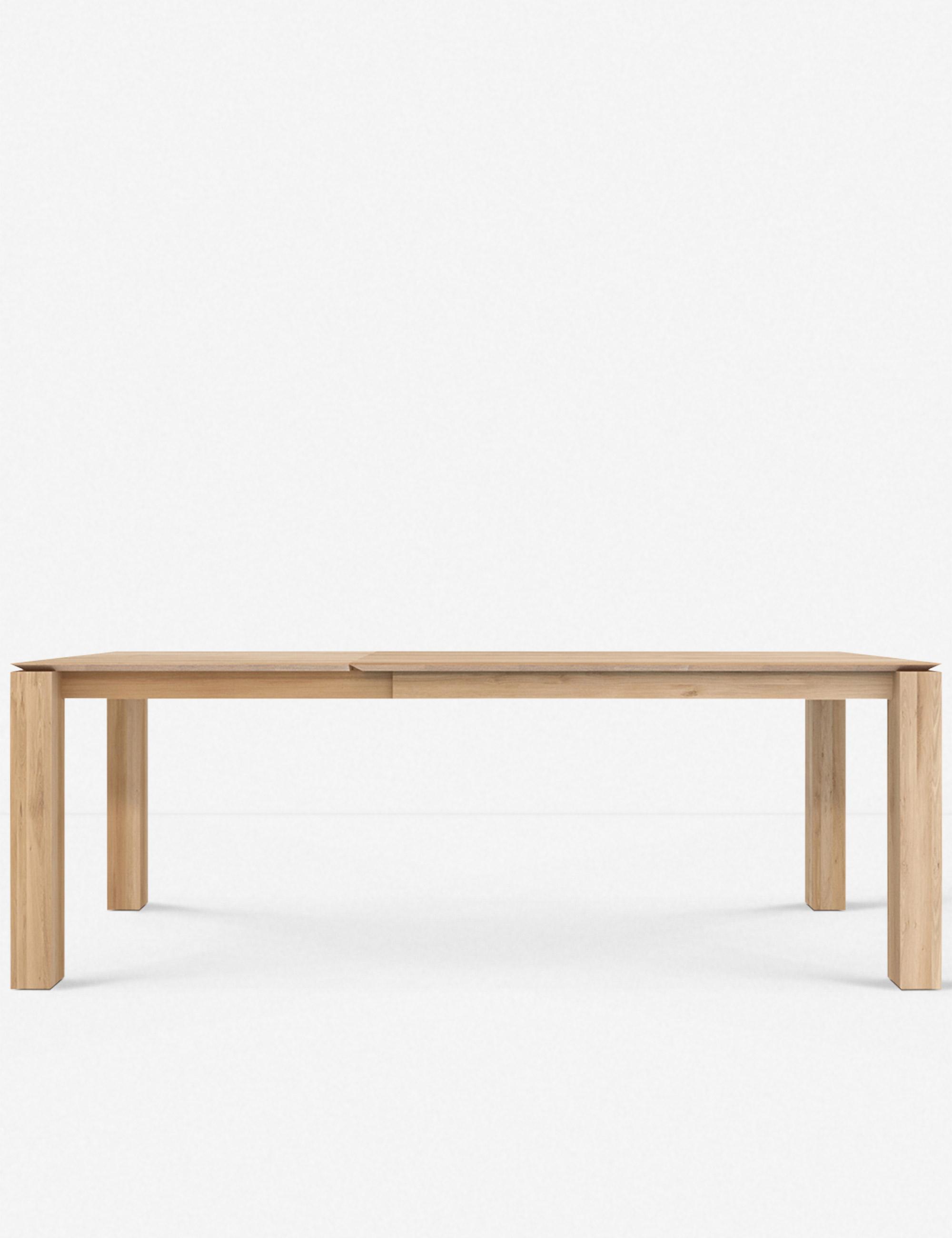 """Kaiza Extendable Dining Table, Oak 71""""-110""""L"""