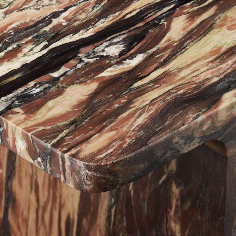 I Beam Black Marble Side Table