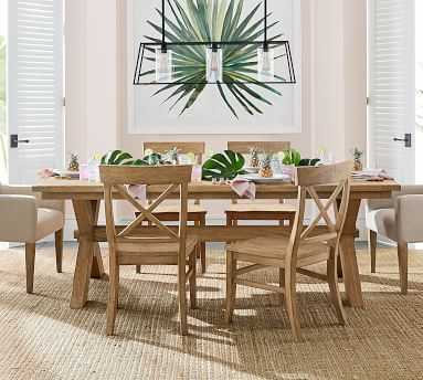"""Toscana Extending Dining Table, Dusty Charcoal, 74"""" - 104"""" L"""