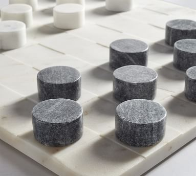 Handcrafted Marble Checkers Board Game