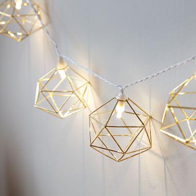 Geo String Lights, Gold