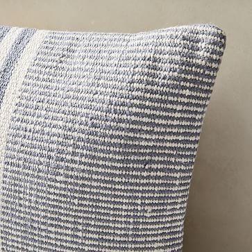 "Woven Stripe Horizons Pillow Cover, Set of 2L, 14""x26"", Light Blue"