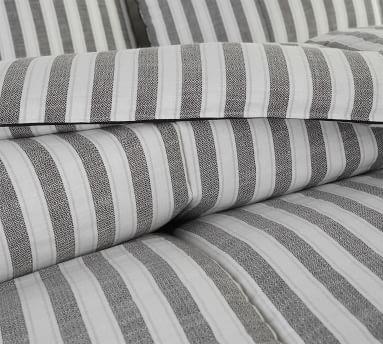 Blue Multi Striped Airstream Mendocino Organic Cotton Comforter, Full/Queen
