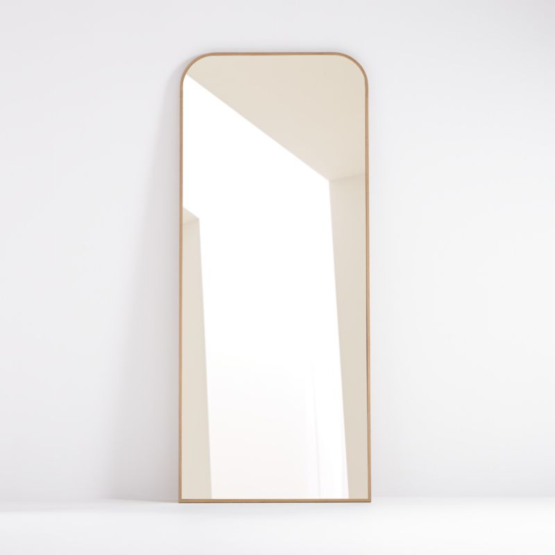 Edge Oak Arch Floor Mirror