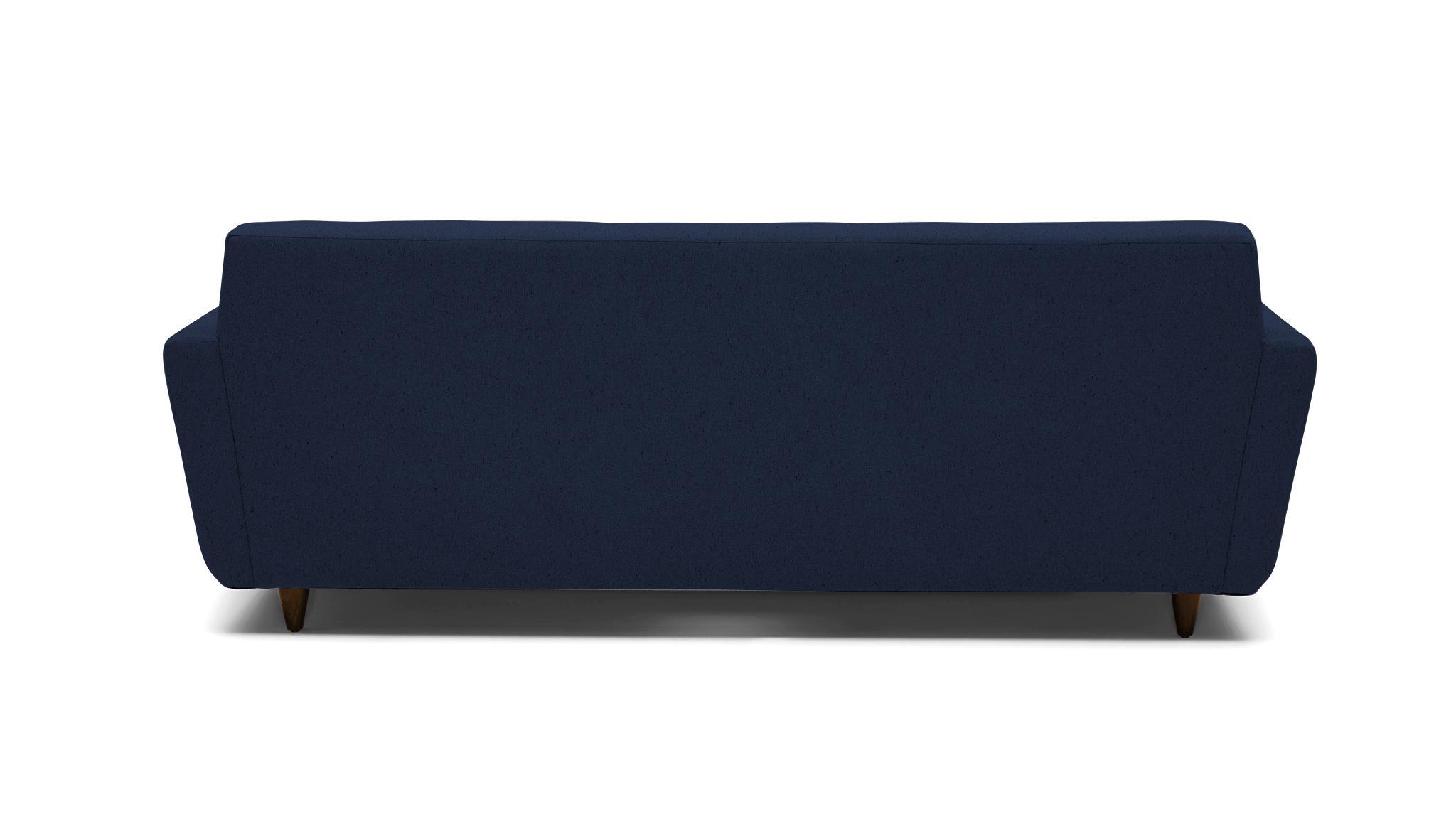 Blue Hughes Mid Century Modern Sleeper Sofa - Bentley Indigo - Mocha