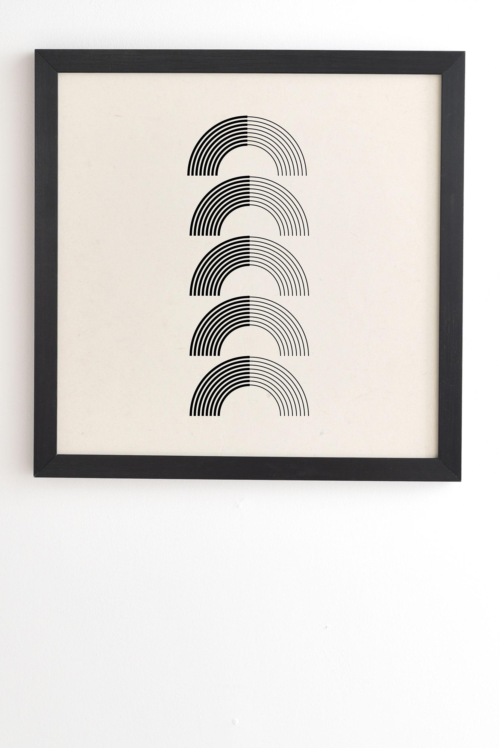 "Black Rainbows by Rose Beck - Framed Wall Art Basic Black 30"" x 30"""