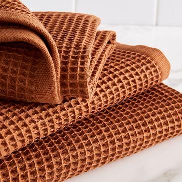 Organic Waffle Towel, Bath Towel, Copper