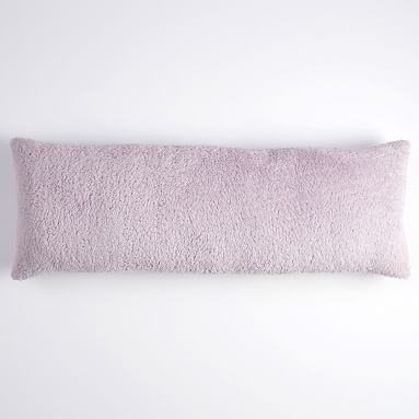 Cozy Huggable Recycled Sherpa Pillow, One Size, Powdered Blush