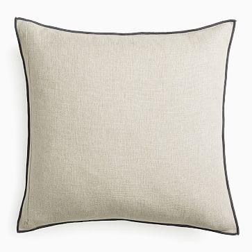 "Classic Linen Pillow Cover, 20""x20"", Mocha"