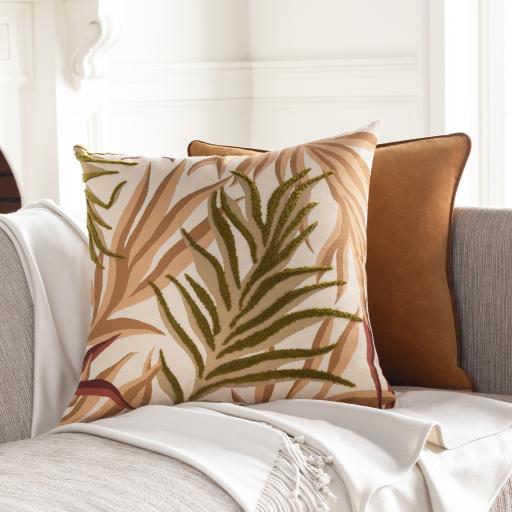 """Safflower Pillow Cover, 22"""" x 22"""""""
