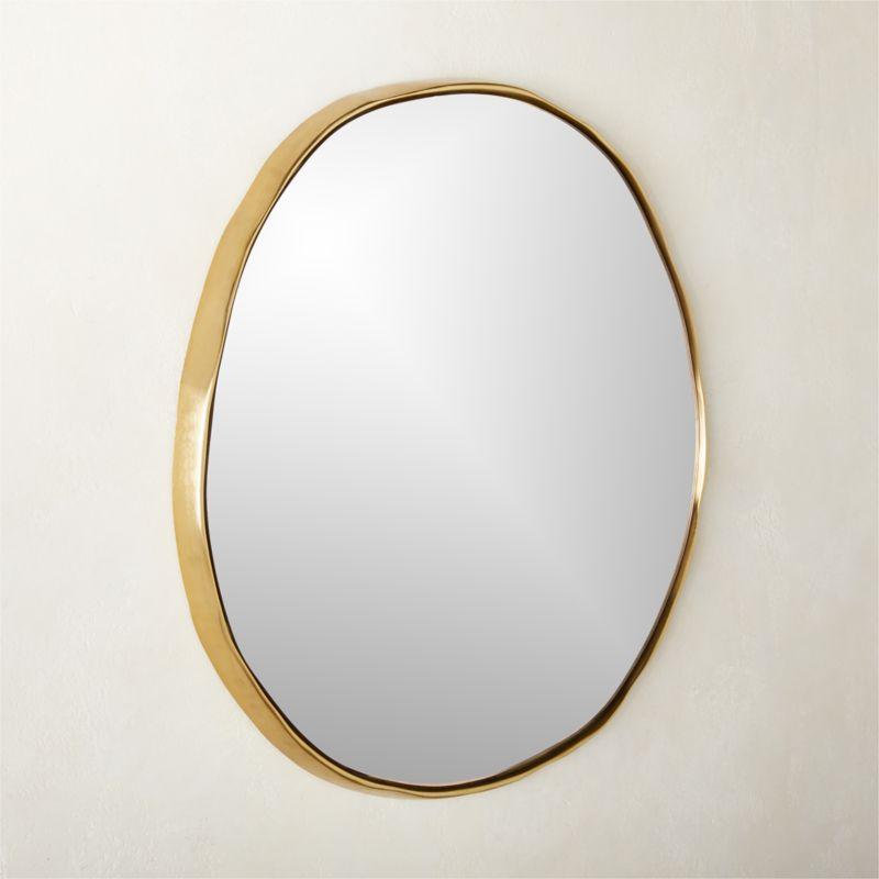"Sombra Brass Mirror 24"""