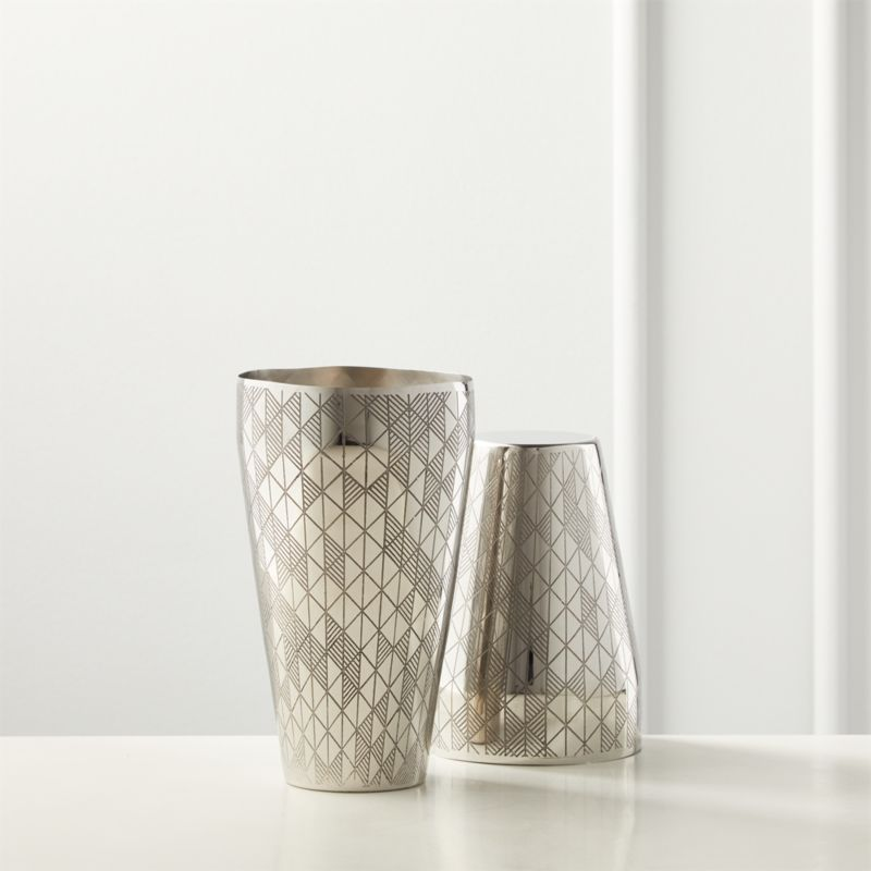 Ether Etched Boston Cocktail Shaker