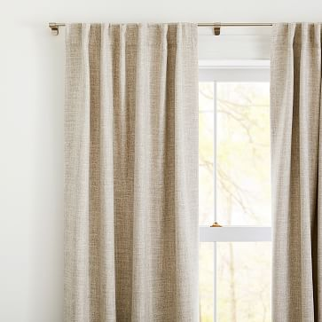 "Crossweave Curtain with Black Out Belgian Flax 48""x84"""