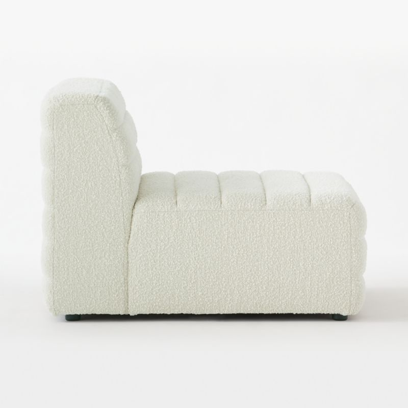 Strato Boucle Armless Chair