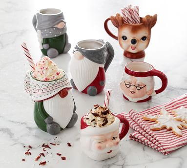 Festive Gnome Ceramic Mug, Single