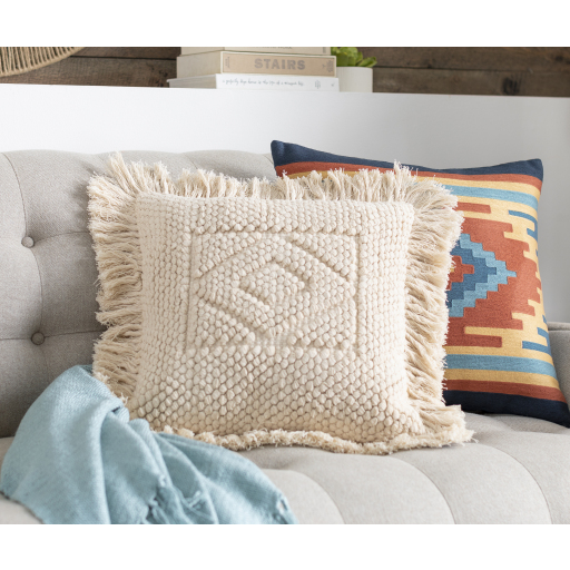 """Hanneli - HNL-001 - 18"""" x 18"""" - pillow cover only"""