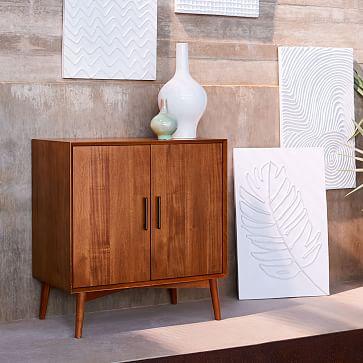 Mid-Century Bar Cabinet - Small, Acorn