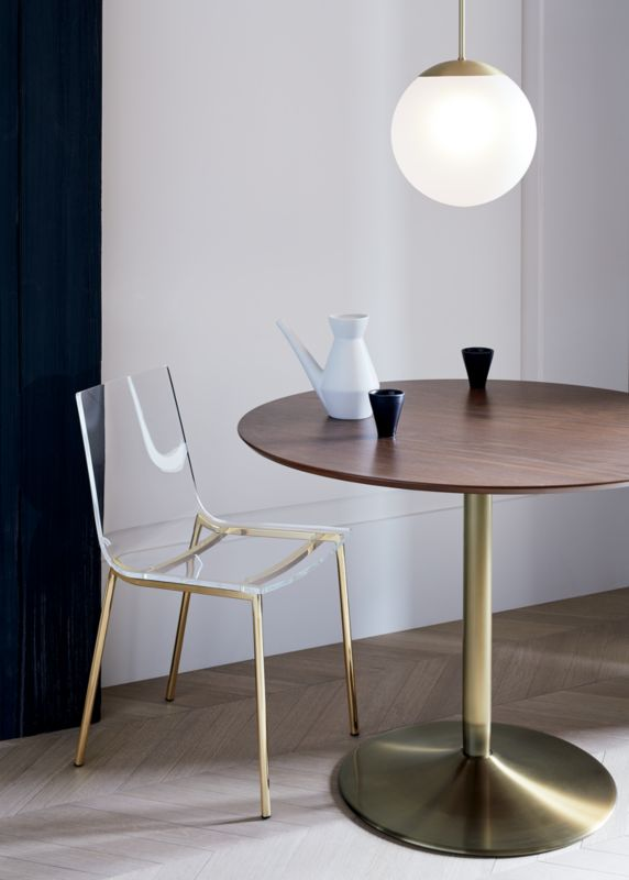 Odyssey Brass/Wood Dining Table