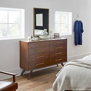 Wright 8-Drawer Dresser, Dark Walnut