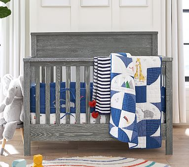 Charlie 4-in-1 Convertible Crib, Weathered Navy, Flat Rate